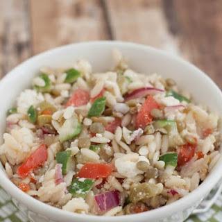 Greek Lentil & Orzo Salad.