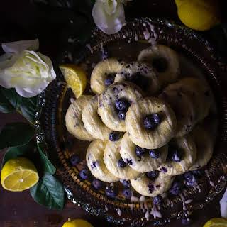 Glazed Lemon Blueberry Donut Tower.
