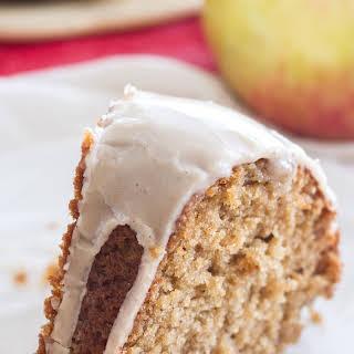 Apple Spice Bundt Cake with a Vanilla Glaze.