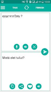 Finnish Thai Translator - náhled