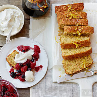 Lemon Loaf with Berries and Cream