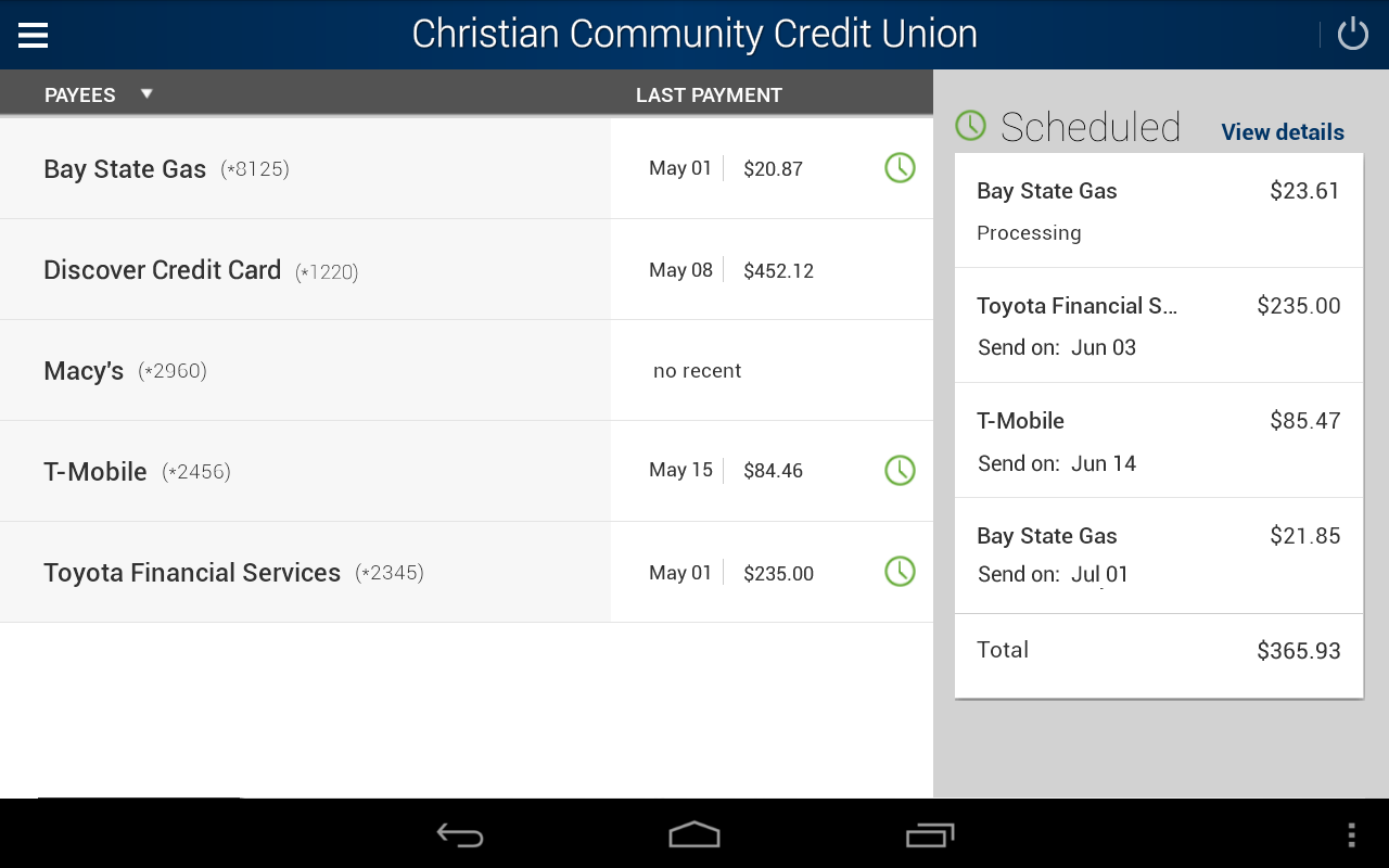 myCCCU Mobile Banking- screenshot