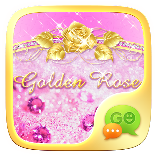 (FREE)GO SMS GOLDEN ROSE THEME
