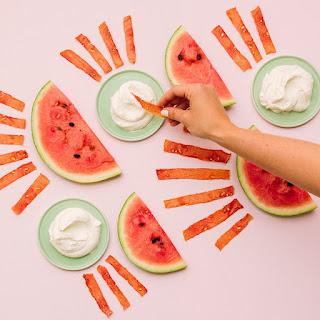 Watermelon Jerky with Vanilla Bean Whipped Cream Recipe