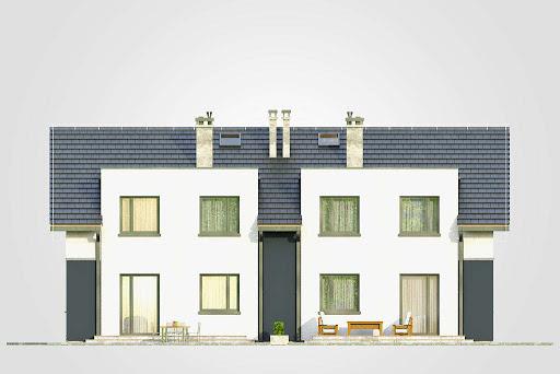 Double House - Elewacja tylna