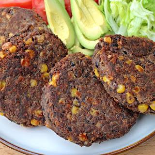 Spicy Black Turtle Bean Burgers