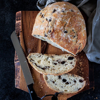 Mediterranean Black Olive Bread.