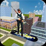 Flying Hover-Board Sniper Shooter: Crime Fighter