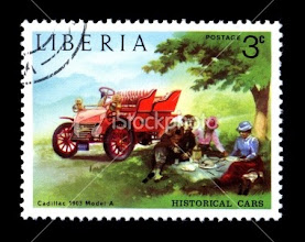 Photo: Red Car Stamp - not an original but pretty? http://www.istockphoto.com/stock-photo-12978080-historical-antique-auto-postage-stamp-liberian.php