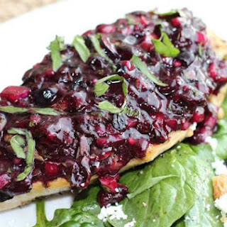 Sauteed Chicken w/ Roasted Blueberry-Basil Salsa