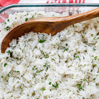 {Oven Baked} Cilantro Lime Rice.