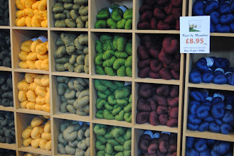 Photo: John Arbon Fibers shelf can make anyone lose themselves in color... There is One Shade Per Slot - Look at it closely.