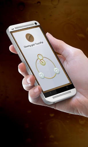 Glowing gold TouchPal Skin