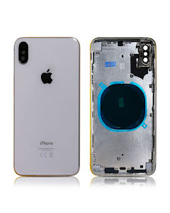 iPhone XS Max Housing without small parts HQ Silver