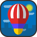 hot air balloon - flying icon
