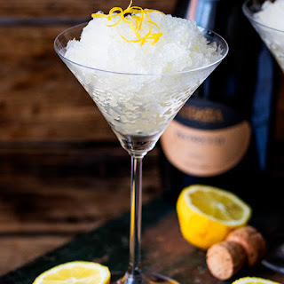 Prosecco Lemon and Ginger Granita