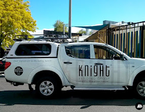 Photo: Latest additions to the Knight Fleet #Mitsubishi #Triton #KnightBuilding #KnightPools #ute #vehiclebranding #vehicleadvertising AutoSkin ~ drive your brand home