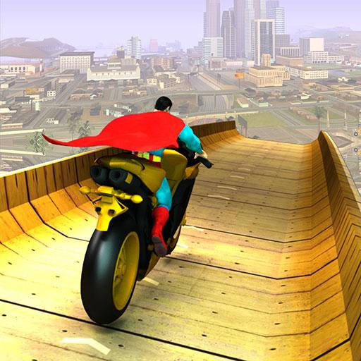 Super Hero Bike Mega Ramp 10.4