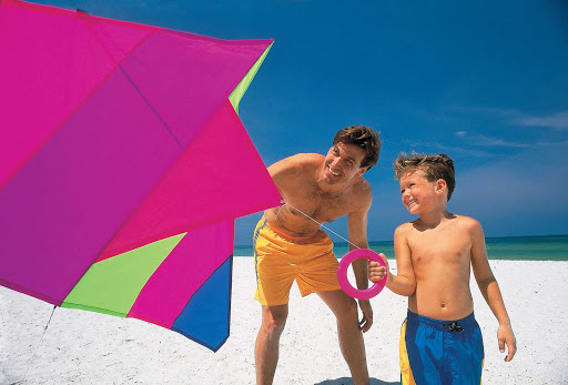 Kite flying is a popular family pastime in Florida.