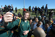 RG Snyman during the Springbok Open Training Session and Fan Engagement at Belhar Rugby Club on August 09, 2018 in Cape Town, South Africa.