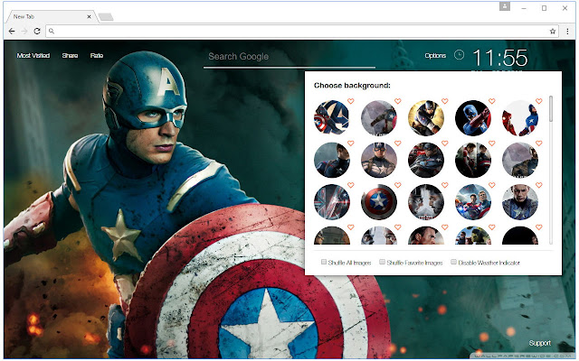Captain America Wallpaper Hd New Tab Themes