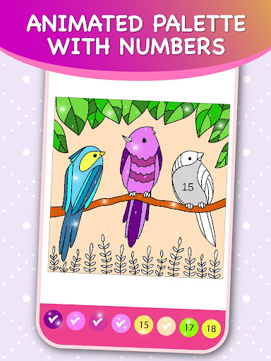 Kids Color by Numbers Book with Animated Effects android2mod screenshots 1
