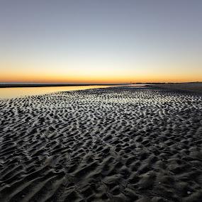 OKI Point by Jeff Dugan - Landscapes Beaches ( oak island, textures, sunset, dramatic, beach )