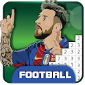 Pixel Soccer Logo Club - Sandbox Color by Numbers icon