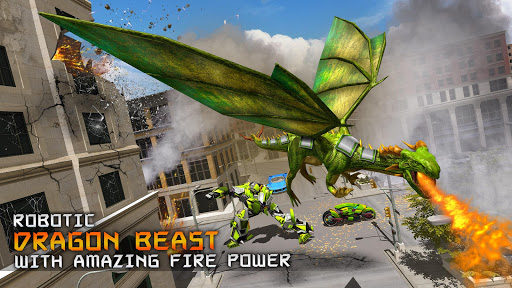 Deadly Flying Dragon Attack : Robot Games apkpoly screenshots 11