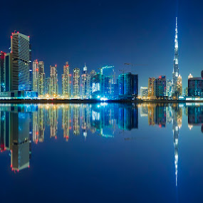 Down Town Dubai Skyline by Rami Asaad - Buildings & Architecture Architectural Detail ( looking, up, images, sky, open, contest, challenge )