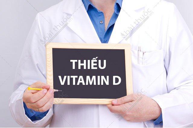 Cơ thể bị thiếu vitamin D