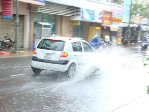 Photo: flooded streets after heavy downpour