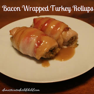 Bacon Wrapped Turkey Rollups.