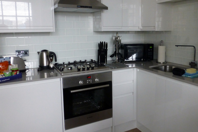 Fully equipped kitchen at Shaftesbury Avenue Apartments
