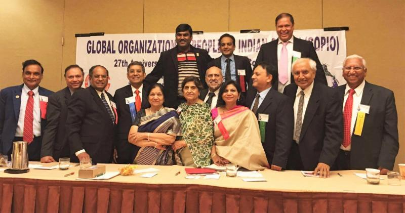GOPIO conference concluding session with cession chairs and GOPIO officers