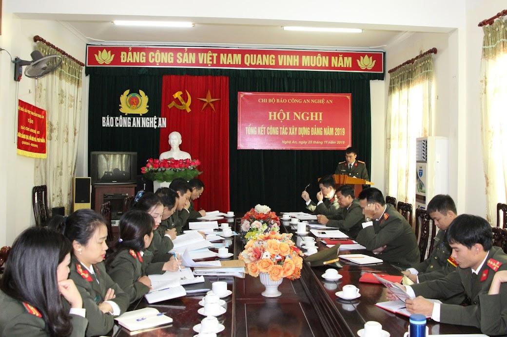 Năm 2019, chi bộ Báo Công an Nghệ An lãnh đạo chỉ đạo đơn vị hoàn thành tốt mọi nhiệm vụ được giao