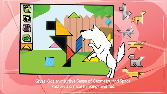 Kids Tangram Puzzles: Dogs- screenshot thumbnail