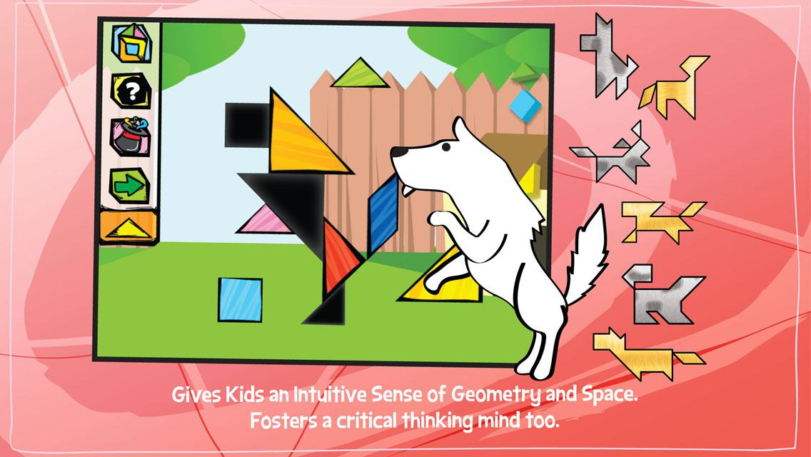 Kids Tangram Puzzles: Dogs- screenshot