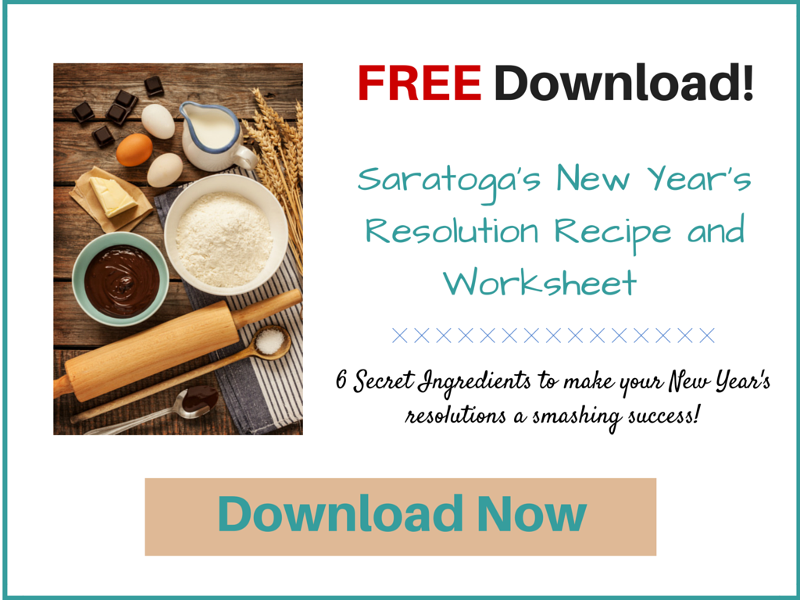 Download Saratoga's New Year's Resolution Recipe and Worksheet FREE here