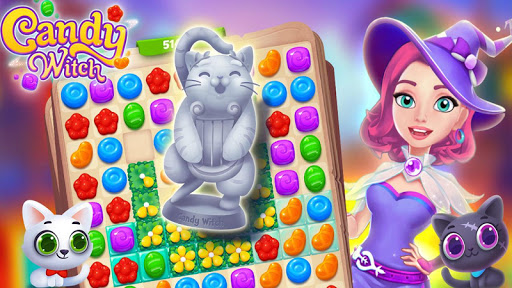 Candy Witch - Match 3 Puzzle Free Games apkdebit screenshots 5