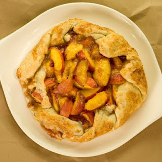 Fresh Peaches and Cream Rustic Pie