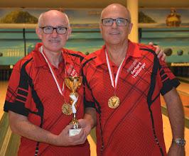 Photo: Senioren-Doppel – 1. Platz: Franz Kocis/Gerhard Hamberger (BC Ansfelden3)
