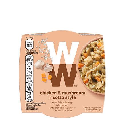 Kyckling- och svamprisotto