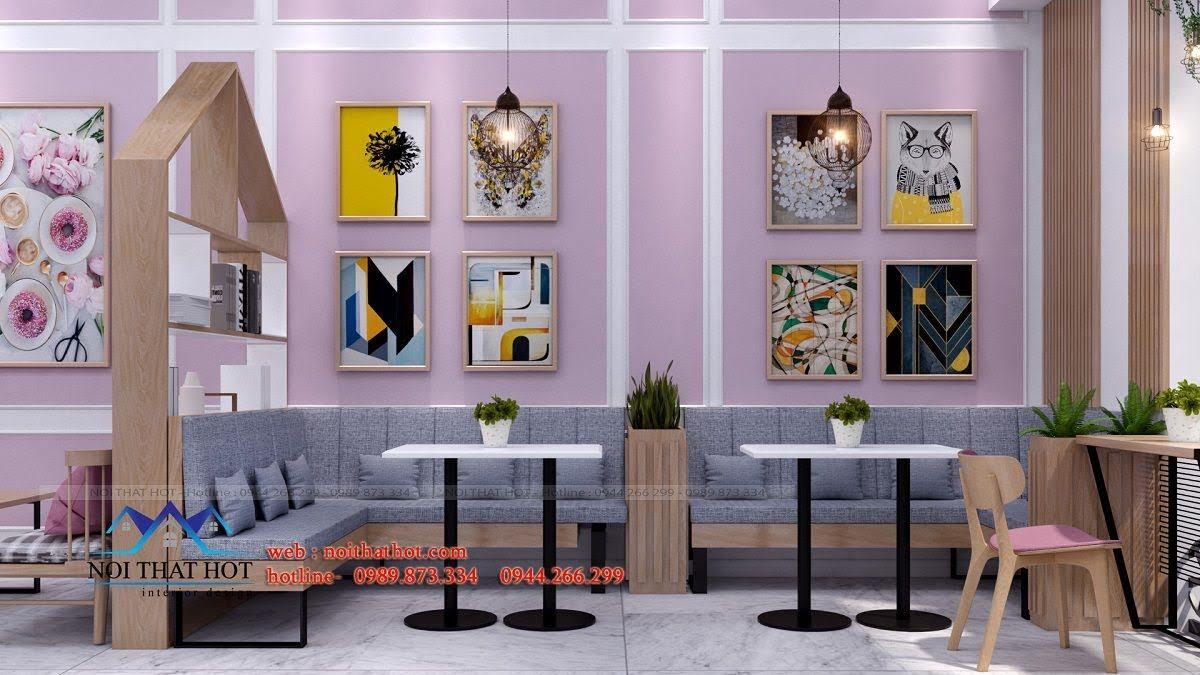thiết kế quán trà sữa hei tea 12