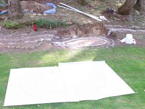 tracer au sol puis report sur calque pour fabrication des gabarits de taille
