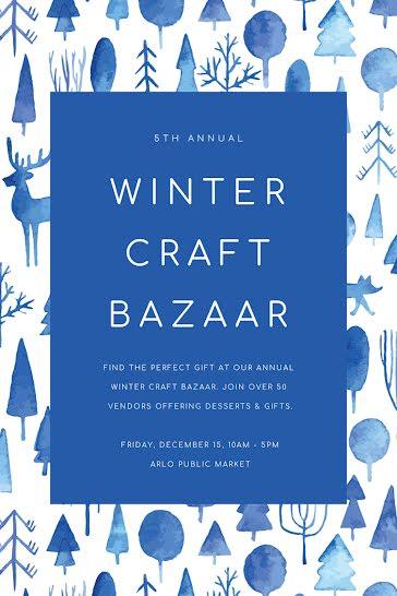 Winter Craft Bazaar - Postcard template