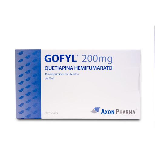 quetiapina gofyl 200mg 30comprimidos axon pharma
