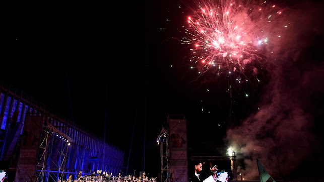 Los fuegos artificiales son ya un clásico de los Conciertos de Feria de la OCAL.
