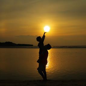 Touching the Sun by Muhammad Buchari - Landscapes Sunsets & Sunrises (  )