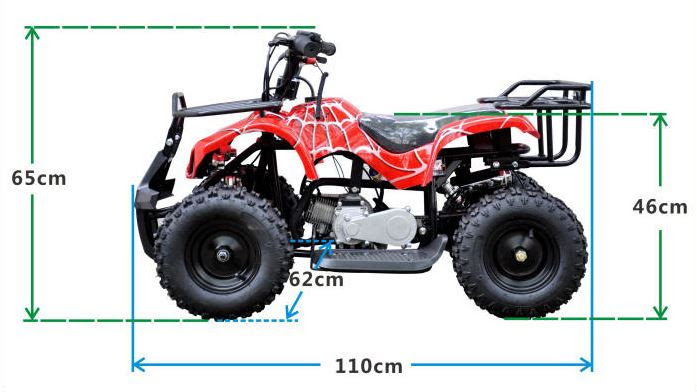 49cc farm ag kids quad bike atv 2 stroke motoworks dimensions